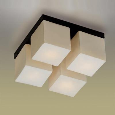 Светильник Odeon Light 2043/4C Cubet венгеКвадратные<br>Настенно потолочный светильник Odeon light (Оодеон лайт) 2043/4C Cubet венге подходит как для установки в вертикальном положении - на стены, так и для установки в горизонтальном - на потолок. Для установки настенно потолочных светильников на натяжной потолок необходимо использовать светодиодные лампы LED, которые экономнее ламп Ильича (накаливания) в 10 раз, выделяют мало тепла и не дадут расплавиться Вашему потолку.<br><br>S освещ. до, м2: 10<br>Тип товара: Светильник настенно-потолочный<br>Скидка, %: 40<br>Тип лампы: накаливания / энергосбережения / LED-светодиодная<br>Тип цоколя: E14<br>Количество ламп: 4<br>Ширина, мм: 250<br>MAX мощность ламп, Вт: 40<br>Расстояние от стены, мм: 150<br>Высота, мм: 150<br>Цвет арматуры: черный