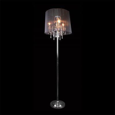 Торшер Евросвет 2045/3F хром/черныйХрустальные<br>Торшер черного цвета<br><br>S освещ. до, м2: 12<br>Тип лампы: накаливания / энергосбережения / LED-светодиодная<br>Тип цоколя: E14<br>Количество ламп: 3<br>MAX мощность ламп, Вт: 60<br>Диаметр, мм мм: 440<br>Высота, мм: 1700<br>Цвет арматуры: серебристый