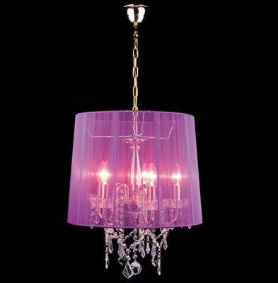 Люстра Евросвет 2045/5 золото + розовыйПодвесные<br><br><br>S освещ. до, м2: 20<br>Тип товара: светильник люстра подвесная<br>Тип лампы: накал-я - энергосбер-я<br>Тип цоколя: E14<br>Количество ламп: 5<br>MAX мощность ламп, Вт: 60<br>Диаметр, мм мм: 440<br>Высота, мм: 460 - 860<br>Цвет арматуры: золото