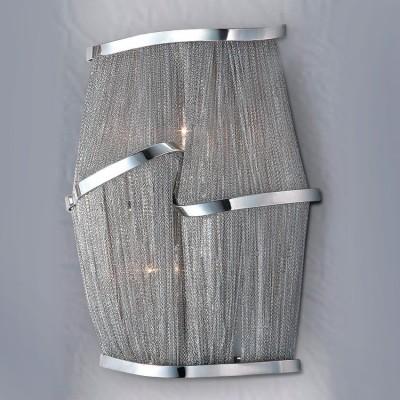 Светильник бра Lamplandia 2046/2 ElisaХай-тек<br>Бра в оригинальном стиле сплетено из цепочек, составленных из мельчайших никелированных колец. Излучает приятный рассеянный свет.<br><br>S освещ. до, м2: 5<br>Крепление: настенный<br>Тип цоколя: E14<br>Количество ламп: 2<br>MAX мощность ламп, Вт: 40<br>Цвет арматуры: серый