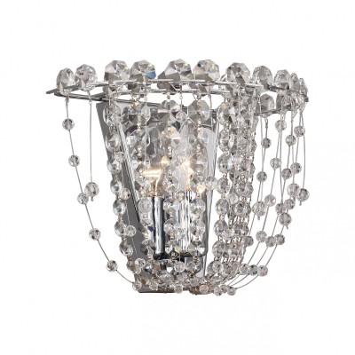 Настенный светильник Favourite 2047-1W Triumphantхрустальные бра<br><br><br>Тип лампы: Накаливания / энергосбережения / светодиодная<br>Тип цоколя: E14<br>Цвет арматуры: серебристый<br>Количество ламп: 1<br>Ширина, мм: 250<br>Диаметр, мм мм: 140<br>Размеры: D140*W250*H200<br>Высота, мм: 200<br>Поверхность арматуры: глянцевая<br>Оттенок (цвет): серебристый<br>MAX мощность ламп, Вт: 40