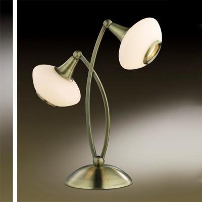 Настольная лампа Odeon light 2054/2T Valle бронзаСовременные<br>Оригинальное решение конструкции этой настольной лампы позволяет освещать одновременно две разные зоны помещения. Это позволит не «утяжелять» интерьер лишними источниками света. Лампу можно использовать как совместно с другими светильниками из этой серии, так и отдельно. Ее простая, и вместе с тем, изящная форма, удачно впишется не только в интерьер в стиле хай-тек, но и в любой другой, подчеркнув ваш изысканный вкус.<br><br>S освещ. до, м2: 5<br>Тип лампы: галогенная / LED-светодиодная<br>Тип цоколя: G9<br>Количество ламп: 2<br>MAX мощность ламп, Вт: 40<br>Диаметр, мм мм: 283<br>Высота, мм: 343<br>Цвет арматуры: бронзовый