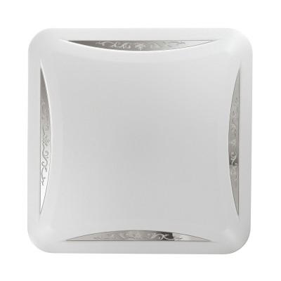Светильник светодиодный Сонекс 2055/СL KRONA 28ВтКвадратные<br><br><br>S освещ. до, м2: 14<br>Тип лампы: LED - светодиодная<br>Цвет арматуры: белый<br>Ширина, мм: 330<br>Длина, мм: 330<br>Высота, мм: 65<br>Оттенок (цвет): белый<br>MAX мощность ламп, Вт: 28
