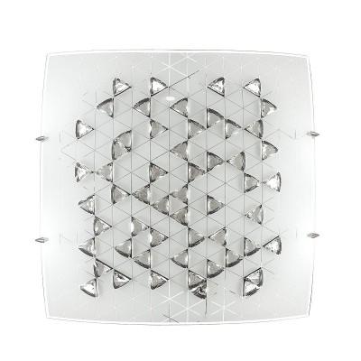Светильник светодиодный Сонекс 2059/DL MEZA 48ВтКвадратные<br><br><br>Установка на натяжной потолок: Да<br>S освещ. до, м2: 24<br>Цветовая t, К: 4000<br>Тип лампы: LED - светодиодная<br>Тип цоколя: LED, встроенные светодиоды<br>Цвет арматуры: серебристый хром<br>Количество ламп: 1<br>Ширина, мм: 400<br>Длина, мм: 400<br>Высота, мм: 100<br>Поверхность арматуры: матовая<br>Оттенок (цвет): белый<br>Общая мощность, Вт: 48