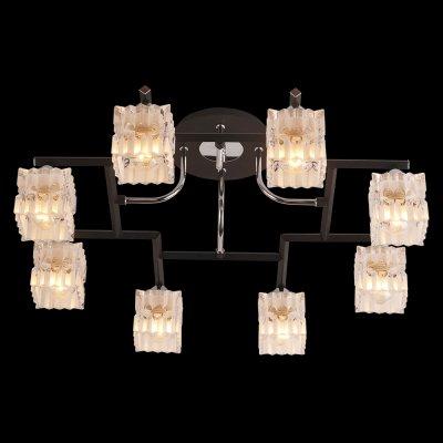 Люстра Idlamp 205/8PF BlackchromeПотолочные<br><br><br>Установка на натяжной потолок: Да<br>S освещ. до, м2: 32<br>Крепление: Планка<br>Тип товара: Люстра<br>Скидка, %: 59<br>Тип цоколя: E14<br>Количество ламп: 8<br>MAX мощность ламп, Вт: 60<br>Диаметр, мм мм: 660<br>Высота, мм: 250<br>Оттенок (цвет): Полупрозрачный<br>Цвет арматуры: серебристый