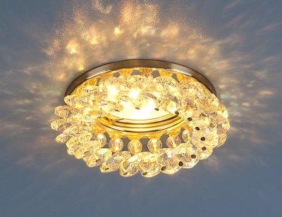 206 MR16 GD/Color золото/перламутр Электростандарт Светильник точечный с хрусталемВстраиваемые хрустальные светильники<br>Лампа: MR16 G5.3 max 50 Вт Диаметр: ? 92 мм Высота внутренней части: ? 27 мм Высота внешней части: ? 23 мм Монтажное отверстие: ? 60 мм Гарантия: 2 года<br><br>Тип лампы: галогенная<br>Тип цоколя: gu5.3<br>Диаметр, мм мм: 90<br>Диаметр врезного отверстия, мм: 64<br>Высота, мм: 50<br>MAX мощность ламп, Вт: 50