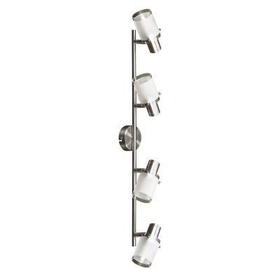 Светильник спот Colosseo 20609/4 AnzioС 4 лампами<br><br><br>S освещ. до, м2: 8<br>Крепление: планка<br>Тип товара: Светильник поворотный спот<br>Тип лампы: энергосбережения / LED-светодиодная<br>Тип цоколя: E14<br>Количество ламп: 4<br>Ширина, мм: 80<br>MAX мощность ламп, Вт: 9<br>Расстояние от стены, мм: 160<br>Высота, мм: 670<br>Цвет арматуры: серый