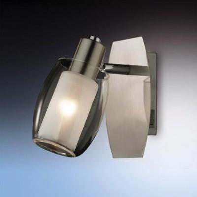 Светильник Odeon light 2069/1W Sinco никель с выклОдиночные<br>Допускается установка светильника на вертикальную поверхность - стену и горизонтальную поверхность - потолок.<br><br>S освещ. до, м2: 2<br>Тип лампы: накал-я - энергосбер-я<br>Тип цоколя: E14<br>Цвет арматуры: серый<br>Количество ламп: 1<br>Расстояние от стены, мм: 130<br>Высота, мм: 160<br>MAX мощность ламп, Вт: 40