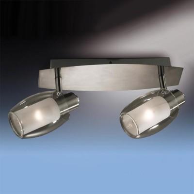 Светильник Odeon light 2069/2W Sinco никельДвойные<br>Допускается установка светильника на вертикальную поверхность - стену и горизонтальную поверхность - потолок.<br><br>S освещ. до, м2: 5<br>Тип лампы: накал-я - энергосбер-я<br>Тип цоколя: E14<br>Количество ламп: 2<br>Ширина, мм: 270<br>MAX мощность ламп, Вт: 40<br>Расстояние от стены, мм: 130<br>Цвет арматуры: серый