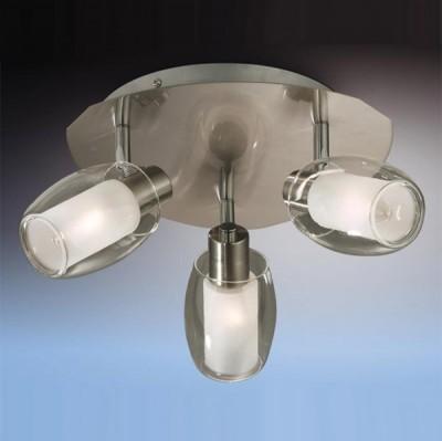 Люстра Odeon Light 2069/3C Sinco никельПоворотные<br>Допускается установка светильника на вертикальную поверхность - стену и горизонтальную поверхность - потолок.<br><br>Установка на натяжной потолок: Ограничено<br>S освещ. до, м2: 8<br>Крепление: Планка<br>Тип лампы: накаливания / энергосбережения / LED-светодиодная<br>Тип цоколя: E14<br>Количество ламп: 3<br>MAX мощность ламп, Вт: 40<br>Диаметр, мм мм: 260<br>Расстояние от стены, мм: 130<br>Цвет арматуры: серый