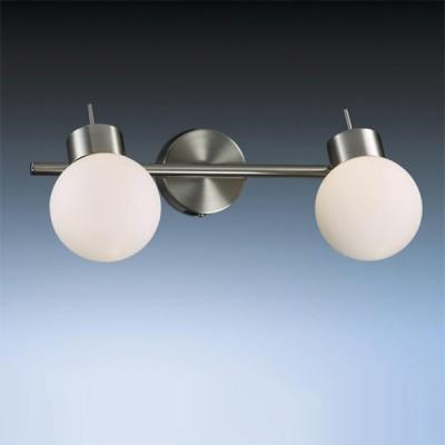 Светильник Odeon light 2070/2W Sofit никельДвойные<br><br><br>S освещ. до, м2: 5<br>Тип товара: Светильник поворотный спот<br>Скидка, %: 17<br>Тип лампы: галогенная / LED-светодиодная<br>Тип цоколя: G9<br>Количество ламп: 2<br>Ширина, мм: 335<br>MAX мощность ламп, Вт: 40<br>Расстояние от стены, мм: 200<br>Высота, мм: 200<br>Цвет арматуры: серый