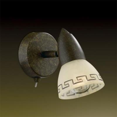 Светильник Odeon light 2075/1W Medeo коричневыйОдиночные<br>Допускается установка светильника на вертикальную поверхность - стену и горизонтальную поверхность - потолок.<br><br>S освещ. до, м2: 2<br>Тип лампы: накал-я - энергосбер-я<br>Тип цоколя: E14<br>Количество ламп: 1<br>Ширина, мм: 125<br>MAX мощность ламп, Вт: 40<br>Расстояние от стены, мм: 175<br>Высота, мм: 140<br>Цвет арматуры: коричневый