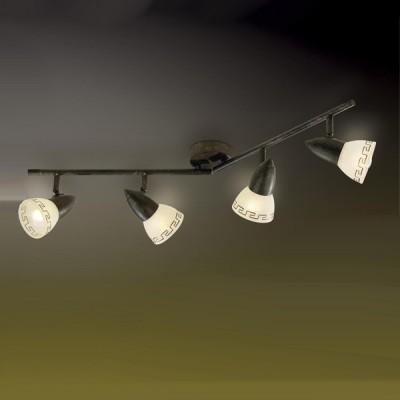 Светильник Odeon light 2075/4W Medeo коричневыйС 4 лампами<br>Допускается установка светильника на вертикальную поверхность - стену и горизонтальную поверхность - потолок.<br><br>S освещ. до, м2: 10<br>Тип лампы: накал-я - энергосбер-я<br>Тип цоколя: E14<br>Количество ламп: 4<br>Ширина, мм: 810<br>MAX мощность ламп, Вт: 40<br>Расстояние от стены, мм: 175<br>Цвет арматуры: коричневый