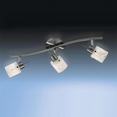 Светильник Odeon light 2076/3W Terbo никельТройные<br><br><br>S освещ. до, м2: 8<br>Тип товара: Светильник поворотный спот<br>Тип лампы: галогенная / LED-светодиодная<br>Тип цоколя: G9<br>Количество ламп: 3<br>Ширина, мм: 110<br>MAX мощность ламп, Вт: 40<br>Длина, мм: 560<br>Расстояние от стены, мм: 135<br>Цвет арматуры: серый