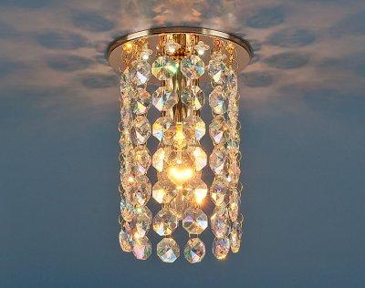Светильник Электростандарт 208 LED золото/перламутр Strotskisхрустальные встраиваемые светильники<br>