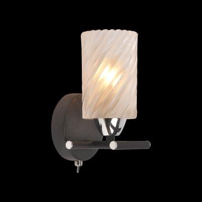 Светильник Idlamp 208/1A Blackchromeбра в стиле лофт<br><br><br>S освещ. до, м2: 4<br>Крепление: Настенные<br>Тип цоколя: E14<br>Цвет арматуры: черный<br>Количество ламп: 1<br>Ширина, мм: 100<br>Расстояние от стены, мм: 110<br>Высота, мм: 180<br>Оттенок (цвет): Полупрозрачный<br>MAX мощность ламп, Вт: 60
