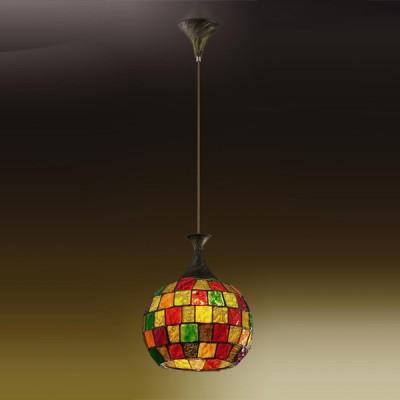 Светильник Odeon light 2094/1 Velute коричневыйОдиночные<br>Подвес Odeon light 2094/1 в стиле Тиффани способен стать самостоятельным украшением Вашего безупречного интерьера, наделяя его эстетическим богатством, создавая ауру чудотворности света. Использованное итальянскими мастерами витражное стекло превращает творение в цельное искусное произведение. Только представьте, что на Ваших просторах будет благородно царить чаша разноцветной мозаики, переливающая радужными бликами, как при естественном, так и искусственном излучении. Ваш интерьер обретёт новое веяние – очарование, грацию и оригинальную атрибутику в декоре. Подвес Odeon light 2094/1 станет Вашим любимым украшением и источником насыщенного потока лучей под витражным куполом.<br><br>S освещ. до, м2: 4<br>Тип лампы: накаливания / энергосбережения / LED-светодиодная<br>Тип цоколя: E27<br>Количество ламп: 1<br>MAX мощность ламп, Вт: 60<br>Диаметр, мм мм: 250<br>Высота, мм: 250-900<br>Цвет арматуры: коричневый