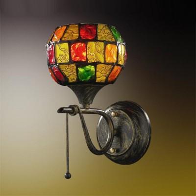 Светильник Odeon Light 2094/1W Velute коричневыйТиффани<br>Настенное бра Odeon Light 2094/1W в стиле Тиффани способно стать самостоятельным украшением Вашего безупречного интерьера, наделяя его эстетическим богатством и создавая ауру чудотворности света. Использованное итальянскими мастерами витражное стекло превращает творение в цельное произведение искусства. В любой зоне будет благородно царить чаша разноцветной мозаики, переливающейся радужными бликами, как при естественном, так и искусственном излучении. Интерьер обретёт неподражаемой очарование, грацию и оригинальную атрибутику в декоре. Настенное бра Odeon Light 2094/1W станет Вашим любимым украшением и полноценным источником томного потока лучей под витражным куполом.<br><br>S освещ. до, м2: 4<br>Тип лампы: накаливания / энергосбережения / LED-светодиодная<br>Тип цоколя: E14<br>Количество ламп: 1<br>Ширина, мм: 150<br>MAX мощность ламп, Вт: 60<br>Расстояние от стены, мм: 150<br>Высота, мм: 230<br>Цвет арматуры: коричневый