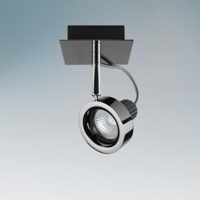 Lightstar VARIETA 210118 СветильникОдиночные<br><br><br>Тип товара: Светильник<br>Тип лампы: галогенная/LED<br>Тип цоколя: GU10<br>Ширина, мм: 170<br>MAX мощность ламп, Вт: 50<br>Длина, мм: 100<br>Высота, мм: 100<br>Цвет арматуры: серебристый