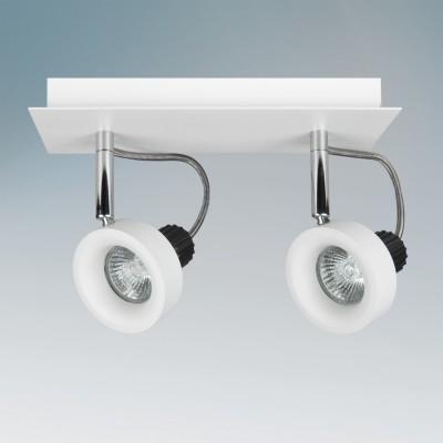 Lightstar VARIETA 210126 СветильникДвойные<br><br><br>Тип товара: Светильник<br>Тип лампы: галогенная/LED<br>Тип цоколя: GU10<br>Количество ламп: 2<br>Ширина, мм: 170<br>MAX мощность ламп, Вт: 50<br>Длина, мм: 250<br>Высота, мм: 100<br>Цвет арматуры: серебристый