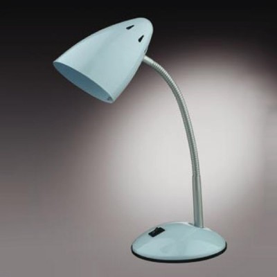 Настольная лампа Odeon light 2104/1T Gap белыйОфисные<br><br><br>S освещ. до, м2: 4<br>Тип товара: настольная лампа<br>Тип лампы: накал-я - энергосбер-я<br>Тип цоколя: E27<br>Количество ламп: 1<br>Ширина, мм: 141<br>MAX мощность ламп, Вт: 60<br>Диаметр, мм мм: 100<br>Высота, мм: 380<br>Цвет арматуры: белый