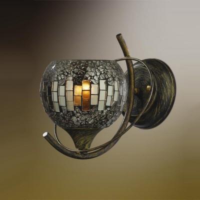 Светильник Odeon Light 2106/1W Mosaic хром/антрацитТиффани<br>Настенное бра Odeon Light 2106/1W обогатит любое пространство сарующим изяществом и роскошью! Изделие выполнено в безупречной мозаичной технике с антрацитовым наполнением. Цветовая палитра поистине безупречна, и Вам захочется украсить подобным итальянским шедевром не одну зону уединения. Роскошь не всегда требует громоздких конструкций или повышенной пестроты. Доказательство тому богемная чаша света, представленная в мозаичном плафоне бра Odeon Light 2106/1W. Именно она наполнит любое пространство не просто ярким светом, но и великолепным мерцанием от антрацитовых граней. Лаконичность конструкции позволит порадовать помещение любого размера. Насладитесь благородством света!<br><br>S освещ. до, м2: 4<br>Тип лампы: накаливания / энергосбережения / LED-светодиодная<br>Тип цоколя: E14<br>Цвет арматуры: коричневый<br>Количество ламп: 1<br>Ширина, мм: 180<br>Расстояние от стены, мм: 180<br>Высота, мм: 170<br>MAX мощность ламп, Вт: 60