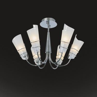 Светильник Flamelli FL2110-6CПотолочные<br><br><br>Установка на натяжной потолок: Да<br>S освещ. до, м2: 18<br>Крепление: Планка<br>Тип товара: Люстра<br>Тип цоколя: E27<br>Количество ламп: 6<br>Ширина, мм: 650<br>MAX мощность ламп, Вт: 60<br>Диаметр, мм мм: 650<br>Высота, мм: 400<br>Цвет арматуры: серебристый