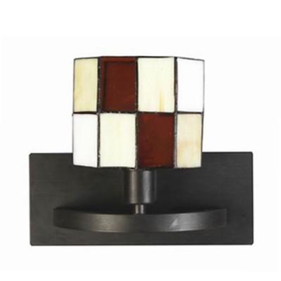 Светильник бра Lamplandia 21117 SambaСовременные<br>Бра.Традиционная модель. Основание из металла темно-коричневого цвета. Плфоны выполнены из слюды,в стиле «тиффани».<br><br>S освещ. до, м2: 2<br>Крепление: потолочный<br>Тип лампы: накаливания / энергосбережения / LED-светодиодная<br>Тип цоколя: E14<br>Цвет арматуры: коричневый<br>Количество ламп: 1<br>Ширина, мм: 150<br>Расстояние от стены, мм: 130<br>Высота, мм: 130<br>MAX мощность ламп, Вт: 40