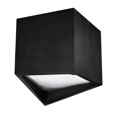 Светильник накладной светодиодный Lightstar 211477 Quadroквадратные светильники<br>Врезное отверстие: a50; Внешние габариты:L+W100 H110 ; Материал - основание/плафон: металл/пластик; Цвет-основание/плафон: черный;  Лампа: LED 12 Вт соответствует 120 Вт лампе накаливания, Световой поток: 960LM; Трансформатор встроен, 3000K;