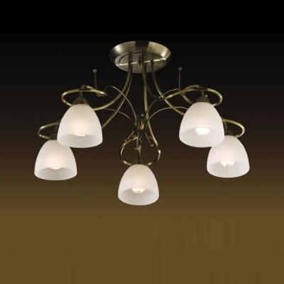 Люстра Odeon Light 2120/5С Kaena бронзаПотолочные<br>Созданная в Италии, люстра ODEON LIGHT KAENA подойдет к интерьеру практически любого помещения. Она удачно впишется в спальню, создавая мягкий направленный свет с помощью плафонов, выполненных из  белого стекла  великолепно люстра будет смотреться в гостиной – благодаря своему изящному дизайну, она подчеркнет Ваш безупречный вкус, а пять лампочек в плафонах разгонят тьму даже на расстоянии до двадцати квадратных метров!<br><br>Установка на натяжной потолок: Да<br>S освещ. до, м2: 20<br>Крепление: Планка<br>Тип лампы: накаливания / энергосбережения / LED-светодиодная<br>Тип цоколя: E14<br>Количество ламп: 5<br>MAX мощность ламп, Вт: 60<br>Диаметр, мм мм: 620<br>Высота, мм: 390<br>Цвет арматуры: бронзовый