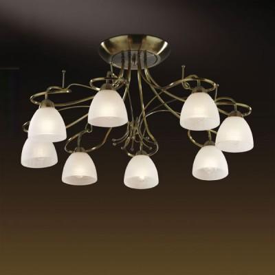 Люстра Odeon Light 2120/8C Kaena бронзаПотолочные<br>Данная люстра станет настоящей находкой в большом помещении с невысокими потолками. Небольшие размеры позволяют ей великолепно смотреться на низких потолках, создавая ощущение легкости, «воздушности» и зрительно увеличивая пространство.  А восемь плафонов, выполненных в виде белых цветков, будут освещать пространство на расстоянии до тридцати двух квадратных метров! Искусно исполненная арматура придает люстре легкость и изящность, и придется по вкусу ценителям тонкой красоты.<br><br>Установка на натяжной потолок: Да<br>S освещ. до, м2: 32<br>Крепление: Планка<br>Тип лампы: накаливания / энергосбережения / LED-светодиодная<br>Тип цоколя: E14<br>Количество ламп: 8<br>MAX мощность ламп, Вт: 60<br>Диаметр, мм мм: 770<br>Высота, мм: 350<br>Цвет арматуры: бронзовый