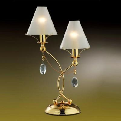 Настольная лампа Odeon light 2121/2T Lino золотоС абажуром<br>Элегантная и изящная, эта настольная лампа привлекает к себе внимание безупречным видом.  Наличие двух плафонов позволяет освещать одновременно несколько зон, при этом  нет необходимости покупать дополнительные источники света. Подвески из крупного хрусталя смотрятся изысканно и роскошно. Плафоны-абажуры создают мягкое, комфортное для глаз, освещение. Благородное сочетание золотого и белого цветов делают эту лампу заметной для всех, кто зайдет в комнату, где она находится.<br><br>S освещ. до, м2: 5<br>Тип товара: настольная лампа<br>Скидка, %: 21<br>Тип лампы: накал-я - энергосбер-я<br>Тип цоколя: E14<br>Количество ламп: 2<br>MAX мощность ламп, Вт: 40<br>Диаметр, мм мм: 280<br>Высота, мм: 460<br>Цвет арматуры: золотой