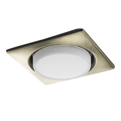 Светильник Lightstar 212121 TENSIOСветодиодные квадратные светильники<br>Встраиваемые светильники – популярное осветительное оборудование, которое можно использовать в качестве основного источника или в дополнение к люстре. Они позволяют создать нужную атмосферу атмосферу и привнести в интерьер уют и комфорт. <br> Интернет-магазин «Светодом» предлагает стильный встраиваемый светильник Lightstar 212121. Данная модель достаточно универсальна, поэтому подойдет практически под любой интерьер. Перед покупкой не забудьте ознакомиться с техническими параметрами, чтобы узнать тип цоколя, площадь освещения и другие важные характеристики. <br> Приобрести встраиваемый светильник Lightstar 212121 в нашем онлайн-магазине Вы можете либо с помощью «Корзины», либо по контактным номерам. Мы развозим заказы по Москве, Екатеринбургу и остальным российским городам.<br><br>Крепление: Пружинное<br>Тип лампы: LED, КЛЛ<br>Тип цоколя: GX53<br>Цвет арматуры: бронзовый<br>Количество ламп: 1<br>Ширина, мм: 110<br>Высота полная, мм: 3<br>Размеры: H 30 W 110 L 110 Диаметр врезного отверстия<br>Диаметр врезного отверстия, мм: 90<br>Оттенок (цвет): бронзовый<br>MAX мощность ламп, Вт: 13