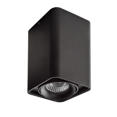 Lightstar MONOCCO 212537 СветильникДаунлайты<br><br><br>Тип лампы: галогенная/LED<br>Тип цоколя: MR16<br>Цвет арматуры: черный<br>Ширина, мм: 100<br>Длина, мм: 100<br>Высота, мм: 170<br>MAX мощность ламп, Вт: 50