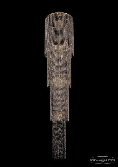 Люстра хрустальная большая Bohemia Ivele 2130/50-230/GКаскадные<br>Компания «Светодом» предлагает широкий ассортимент люстр от известных производителей. Представленные в нашем каталоге товары выполнены из современных материалов и обладают отличным качеством. Благодаря широкому ассортименту Вы сможете найти у нас люстру под любой интерьер. Мы предлагаем как классические варианты, так и современные модели, отличающиеся лаконичностью и простотой форм.  Стильная люстра Bohemia 2130/50-230/GD станет украшением любого дома. Эта модель от известного производителя не оставит равнодушным ценителей красивых и оригинальных предметов интерьера. Люстра Bohemia 2130/50-230/GD обеспечит равномерное распределение света по всей комнате. При выборе обратите внимание на характеристики, позволяющие приобрести наиболее подходящую модель. Купить понравившуюся люстру по доступной цене Вы можете в интернет-магазине «Светодом». Мы предлагаем доставку не только по Москве и Екатеринбурге, но и по всей России.<br><br>S освещ. до, м2: 36<br>Тип товара: Большая хрустальная люстра<br>Тип лампы: накаливания / энергосбережения / LED-светодиодная<br>Тип цоколя: E14<br>Количество ламп: 12<br>MAX мощность ламп, Вт: 60<br>Размеры: Диаметр - 50см<br>Цвет арматуры: золотой