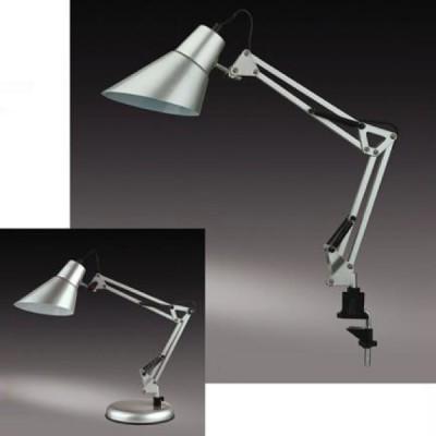 Настольная лампа Odeon light 2131/1T Ixar серебристыйНа струбцине<br>В комплекте струбцина и база (подставка)<br><br>S освещ. до, м2: 4<br>Тип товара: настольная лампа<br>Тип лампы: накал-я - энергосбер-я<br>Тип цоколя: E27<br>Количество ламп: 1<br>Ширина, мм: 180<br>MAX мощность ламп, Вт: 60<br>Диаметр, мм мм: 135<br>Высота, мм: 220+220<br>Цвет арматуры: серый