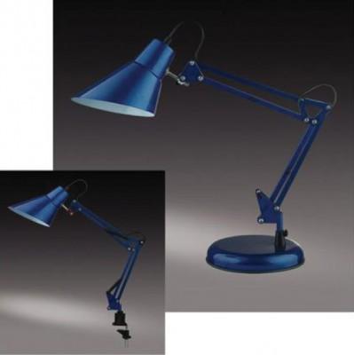 Настольная лампа Odeon light 2133/1T Ixar синийНа струбцине<br>Настольная лампа – это не просто источник дополнительного освещения, но и оригинальный элемент декора. Его можно установить в спальне, гостиной, кабинете и других комнатах. Интернет-магазин «Светодом» предлагает настольные лампы разных стилей по доступным ценам. Благодаря большому ассортименту Вы обязательно найдете в нашем каталоге именно ту модель, которую искали.   Настольная лампа Odeon light 2133/1T  – прекрасный вариант для завершения интерьера. Ее можно включить одновременно с люстрой для более яркого освещения или без нее для создания уютной атмосферы, настраивающей на отдых.   Купить настольную лампу Odeon light 2133/1T  Вы можете с помощью виртуальной «Корзины» или по контактным номерам, указанным на сайте.<br><br>S освещ. до, м2: 4<br>Тип лампы: накал-я - энергосбер-я<br>Тип цоколя: E27<br>Количество ламп: 1<br>Ширина, мм: 180<br>MAX мощность ламп, Вт: 60<br>Диаметр, мм мм: 135<br>Высота, мм: 220+220<br>Цвет арматуры: синий