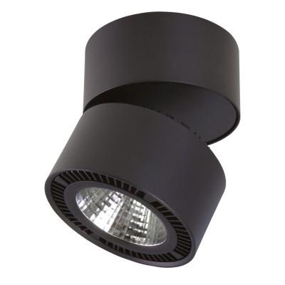 Светильник накладной светодиодный Lightstar 213837 Forte Muroодиночные споты<br>Крепление: a3x70; Внешние габариты: D126 H130; Материал - основание/плафон: металл; Цвет-основание/плафон: черный; Лампа: LED 26W= 260W Световой поток: 1950LM; 3000К ; Угол рассеивания: 30G; Встроенный трансформатор