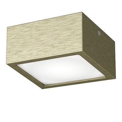 Lightstar ZOLLA 213921 СветильникДекоративные<br>Настенно-потолочные светильники – это универсальные осветительные варианты, которые подходят для вертикального и горизонтального монтажа. В интернет-магазине «Светодом» Вы можете приобрести подобные модели по выгодной стоимости. В нашем каталоге представлены как бюджетные варианты, так и эксклюзивные изделия от производителей, которые уже давно заслужили доверие дизайнеров и простых покупателей. <br>Настенно-потолочный светильник Lightstar 213921 станет прекрасным дополнением к основному освещению. Благодаря качественному исполнению и применению современных технологий при производстве эта модель будет радовать Вас своим привлекательным внешним видом долгое время. <br>Приобрести настенно-потолочный светильник Lightstar 213921 можно, находясь в любой точке России.<br><br>S освещ. до, м2: 4<br>Цветовая t, К: 4000K<br>Тип цоколя: LED-SQ<br>Цвет арматуры: бронзовый<br>Количество ламп: 1<br>Ширина, мм: 100<br>Длина, мм: 100<br>MAX мощность ламп, Вт: 10