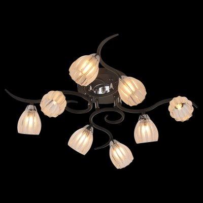 Люстра Idlamp 213/8PF Blackchromeсовременные потолочные люстры модерн<br>Компания «Светодом» предлагает широкий ассортимент люстр от известных производителей. Представленные в нашем каталоге товары выполнены из современных материалов и обладают отличным качеством. Благодаря широкому ассортименту Вы сможете найти у нас люстру под любой интерьер. Мы предлагаем как классические варианты, так и современные модели, отличающиеся лаконичностью и простотой форм.  Стильная люстра IDLamp 213/8PF-Blackchrome станет украшением любого дома. Эта модель от известного производителя не оставит равнодушным ценителей красивых и оригинальных предметов интерьера. Люстра IDLamp 213/8PF-Blackchrome обеспечит равномерное распределение света по всей комнате. При выборе обратите внимание на характеристики, позволяющие приобрести наиболее подходящую модель. Купить понравившуюся люстру по доступной цене Вы можете в интернет-магазине «Светодом».<br><br>Установка на натяжной потолок: Ограничено<br>S освещ. до, м2: 21<br>Крепление: Планка<br>Тип цоколя: G9<br>Цвет арматуры: серебристый<br>Количество ламп: 8<br>Диаметр, мм мм: 660<br>Высота, мм: 190<br>Оттенок (цвет): Полупрозрачный белый<br>MAX мощность ламп, Вт: 40
