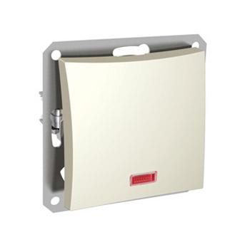 Lexel Дуэт бежевый Одноклавишный выключатель (сх.1) с подсветкой (SE WDE000213)Бежевый<br><br><br>Оттенок (цвет): бежевый