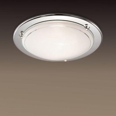 Светильник Сонекс 214 хром RigaКруглые<br>Настенно потолочный светильник Сонекс (Sonex) 214 подходит как для установки в вертикальном положении - на стены, так и для установки в горизонтальном - на потолок. Для установки настенно потолочных светильников на натяжной потолок необходимо использовать светодиодные лампы LED, которые экономнее ламп Ильича (накаливания) в 10 раз, выделяют мало тепла и не дадут расплавиться Вашему потолку.<br><br>S освещ. до, м2: 8<br>Тип лампы: накаливания / энергосбережения / LED-светодиодная<br>Тип цоколя: E27<br>Количество ламп: 2<br>MAX мощность ламп, Вт: 60<br>Диаметр, мм мм: 380<br>Цвет арматуры: серебристый