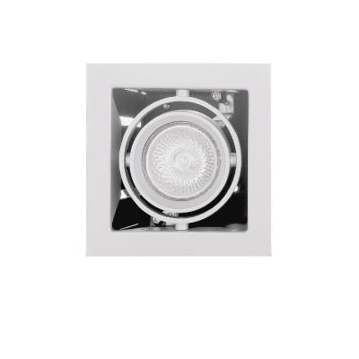 Lightstar CARDANO 214010 СветильникКарданные<br><br><br>Тип цоколя: 12V MR16/220V HP16  max 50W<br>Количество ламп: 1<br>Ширина, мм: 110<br>MAX мощность ламп, Вт: 50W<br>Глубина, мм: 100<br>Размеры: Ширина встраиваемой части 95x95 Высота встраиваемой части 100 D 110x110 H 5<br>Длина, мм: 110<br>Высота, мм: 5<br>Цвет арматуры: белый