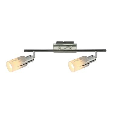 Светильник спот Colosseo 21402/2Двойные<br>Светильники-споты – это оригинальные изделия с современным дизайном. Они позволяют не ограничивать свою фантазию при выборе освещения для интерьера. Такие модели обеспечивают достаточно качественный свет. Благодаря компактным размерам Вы можете использовать несколько спотов для одного помещения. <br>Интернет-магазин «Светодом» предлагает необычный светильник-спот Colosseo 21402/2 по привлекательной цене. Эта модель станет отличным дополнением к люстре, выполненной в том же стиле. Перед оформлением заказа изучите характеристики изделия. <br>Купить светильник-спот Colosseo 21402/2 в нашем онлайн-магазине Вы можете либо с помощью формы на сайте, либо по указанным выше телефонам. Обратите внимание, что мы предлагаем доставку не только по Москве и Екатеринбургу, но и всем остальным российским городам.<br><br>S освещ. до, м2: 6<br>Крепление: планка<br>Тип лампы: накал-я - энергосбер-я<br>Тип цоколя: E14<br>Цвет арматуры: серебристый<br>Количество ламп: 2<br>Ширина, мм: 300<br>Расстояние от стены, мм: 200<br>Высота, мм: 80<br>MAX мощность ламп, Вт: 40