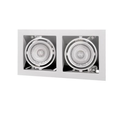 Lightstar CARDANO 214020 СветильникКарданные<br><br><br>Тип лампы: галогенная/LED<br>Тип цоколя: 12V MR16/220V HP16  max 50W<br>Цвет арматуры: белый<br>Количество ламп: 2<br>Ширина, мм: 110<br>Размеры: Ширина встраиваемой части 95x190 Высота встраиваемой части 100 D 110x206 H 5<br>Длина, мм: 206<br>Высота, мм: 105<br>MAX мощность ламп, Вт: 50W