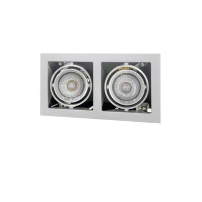 Lightstar CARDANO 214027 СветильникКарданные<br><br><br>Тип лампы: галогенная/LED<br>Тип цоколя: MR16 HP16<br>Цвет арматуры: титан<br>Количество ламп: 1<br>Ширина, мм: 110<br>Размеры: Размер врезного отверстия 95 x 185  Высота врезного отверстия<br>Длина, мм: 206<br>Высота, мм: 5<br>MAX мощность ламп, Вт: 50W