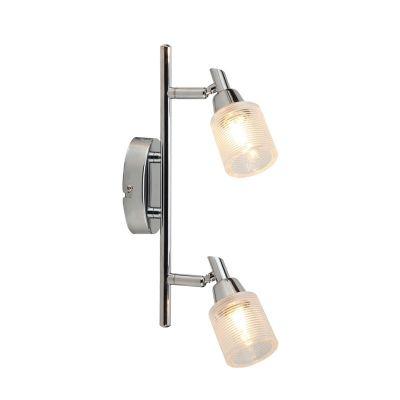 Светильник Colosseo 21403/2Двойные<br>Светильники-споты – это оригинальные изделия с современным дизайном. Они позволяют не ограничивать свою фантазию при выборе освещения для интерьера. Такие модели обеспечивают достаточно качественный свет. Благодаря компактным размерам Вы можете использовать несколько спотов для одного помещения.  Интернет-магазин «Светодом» предлагает необычный светильник-спот Colosseo 21403/2 по привлекательной цене. Эта модель станет отличным дополнением к люстре, выполненной в том же стиле. Перед оформлением заказа изучите характеристики изделия.  Купить светильник-спот Colosseo 21403/2 в нашем онлайн-магазине Вы можете либо с помощью формы на сайте, либо по указанным выше телефонам. Обратите внимание, что у нас склады не только в Москве и Екатеринбурге, но и других городах России.<br><br>S освещ. до, м2: 6<br>Крепление: планка<br>Тип лампы: галогенная / LED-светодиодная<br>Тип цоколя: G9<br>Количество ламп: 2<br>Ширина, мм: 305<br>MAX мощность ламп, Вт: 40<br>Расстояние от стены, мм: 160<br>Высота, мм: 70<br>Цвет арматуры: серебристый