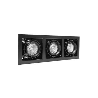 Lightstar 214038 Светильник CARDANO 16Х3 MR16/HP16 ЧЕРНЫЙКарданные<br><br><br>Тип цоколя: GU5.3/GU10<br>Количество ламп: 3<br>MAX мощность ламп, Вт: 50W