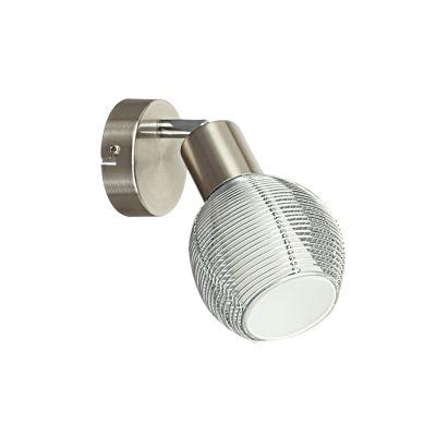 Светильник Colosseo 21406/1Одиночные<br>Уникальная возможность направлять свет в любую сторону всего одним движением руки – это особенная функциональность Colosseo 21406/1. Удобная форма и белый цвет плафона позволят установить конструкцию, совершенно не нагромождённую лишними элементами, практически в любой зоне. Гостиная и спальня, гардеробная и прихожая, кухня и кабинет – каждая часть квартиры, дома и даже офиса приобретёт с покупкой светильника спота Colosseo 21406/1 возможность регулировать свет и тень в интересах дизайна и решения практических задач. Важным достоинством станет универсальность сочетания белого цвета с любым другим, используемым в интерьере. А плафон из резного стекла светильника Colosseo 21406/1 будет прекрасным дополнением декора!<br><br>S освещ. до, м2: 4<br>Крепление: планка<br>Тип лампы: накал-я - энергосбер-я<br>Тип цоколя: E14<br>Количество ламп: 1<br>Ширина, мм: 110<br>MAX мощность ламп, Вт: 40<br>Расстояние от стены, мм: 115<br>Высота, мм: 220<br>Цвет арматуры: серый