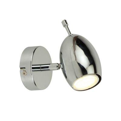 Светильник Colosseo 21409/1Одиночные<br>Футуристический дизайн светильника спота Colosseo 21409/1 особенно не оставит равнодушным ценителей стилей модерн или хай-тек. Насыщенный свет берёт своё начало из гладкой металлической конструкции голубовато-стального блеска. Направление же луча Вы выбираете сами, благодаря особенности спота. В дизайне интерьера лучше использовать ненасыщенные оттенки. К примеру, серые, жемчужные, оливковые, табачные, дымчатые, бледно-голубые и другие на Ваш вкус. Прекрасным дополнением станет мебель не сложной геометрии из металла, стекла, пластика. Яркие пятна можно внести благодаря аксессуарам. Выбирая же светильник Colosseo 21409/1, Вы выигрываете возможность индивидуального распределения света!<br><br>S освещ. до, м2: 4<br>Крепление: планка<br>Тип лампы: люминисцентная<br>Тип цоколя: GU10<br>Количество ламп: 1<br>Ширина, мм: 85<br>MAX мощность ламп, Вт: 35<br>Расстояние от стены, мм: 135<br>Высота, мм: 140<br>Цвет арматуры: серебристый